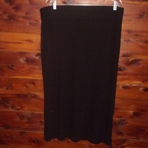 Plus Size Black Stretchy Skirt 16/18 by George